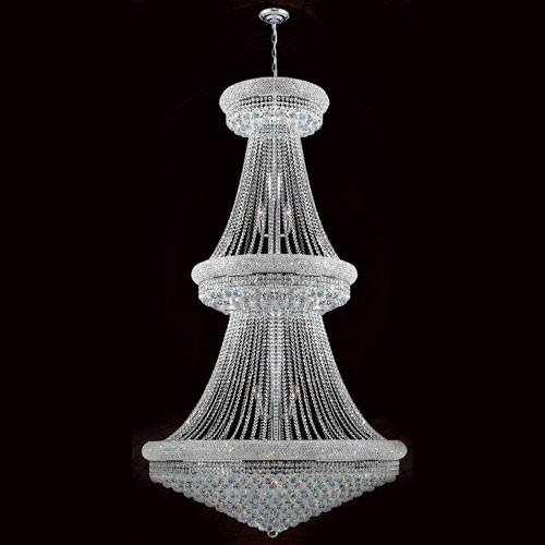 Empire 38-Light Chrome Finish with Clear-Crystals Chandelier