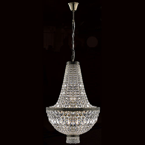 Worldwide Lighting Corp Metropolitan Eight-Light Antique Bronze Finish with Clear-Crystals Chandelier