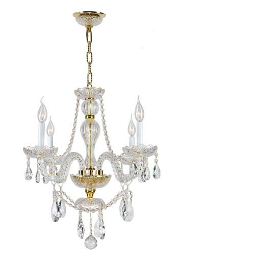 Provence Polished Gold Four-Light Chandelier