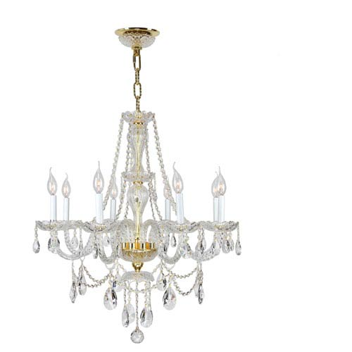 Provence Polished Gold Eight-Light Chandelier