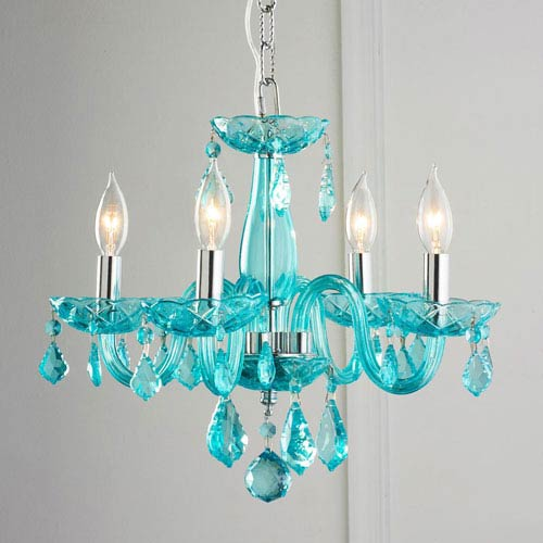 Clarion Polished Chrome Four-Light Chandelier