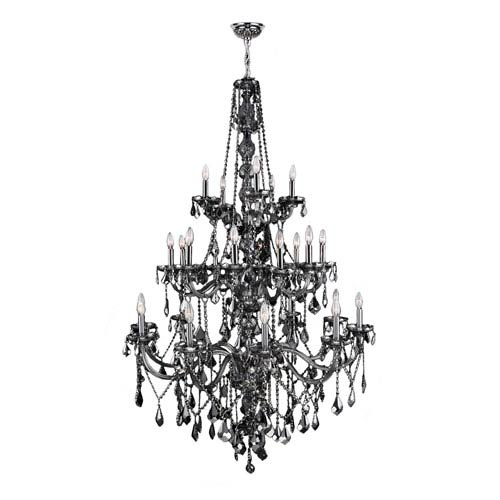 Provence Polished Chrome Twenty-Five Light Chandelier