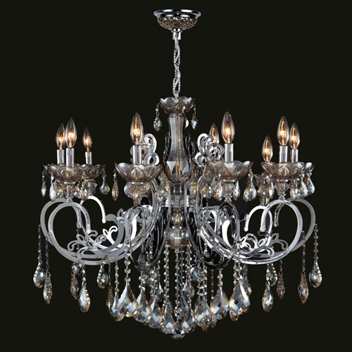 Golden Teak Crystal Chandelier Bellacor - Crystal chandelier installation guide