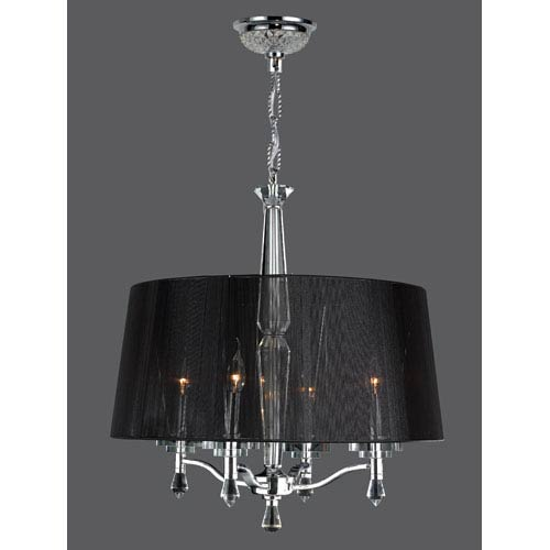 Gatsby Four-Light Chrome Finish with Clear-Crystals Chandelier