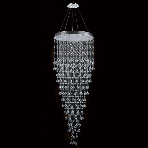Worldwide Lighting Corp Icicle 16-Light Chrome Finish with Clear-Crystals Chandelier