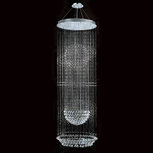 Worldwide Lighting Corp Saturn 13-Light Chrome Finish with Clear-Crystals Chandelier