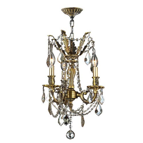 Windsor Antique Bronze Three-Light Chandelier