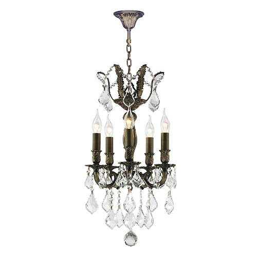 Worldwide Lighting Corp Versailles Antique Bronze 15-Inch Five-Light Chandelier
