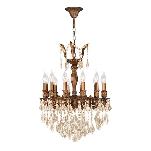 Worldwide Lighting Corp Versailles French Gold 20-Inch Twelve-Light Chandelier