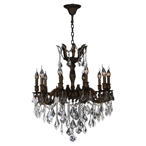 Versailles Flemish Brass Ten-Light Chandelier