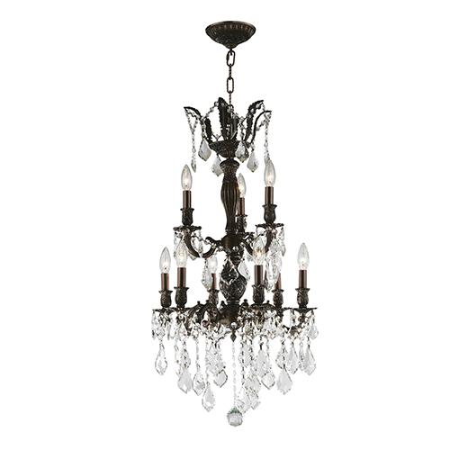 Worldwide Lighting Corp Versailles Flemish Brass 19-Inch Nine-Light Chandelier