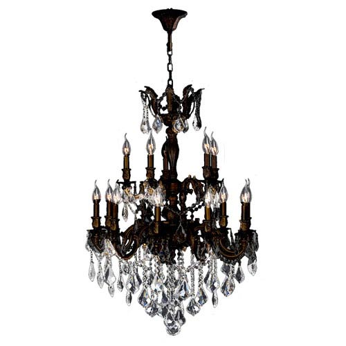 Worldwide Lighting Corp Versailles Flemish Brass Fifteen-Light Chandelier