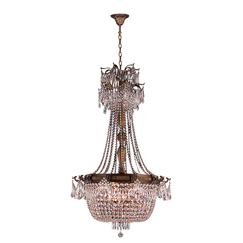 Worldwide Lighting Corp Winchester French Gold 10-Light Chandelier