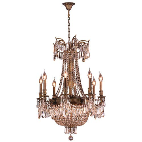 Winchester Antique Bronze Twelve-Light Chandelier