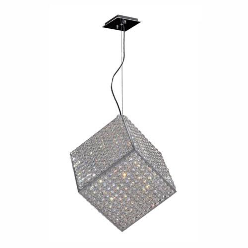 Cube Polished Chrome Six-Light Pendant
