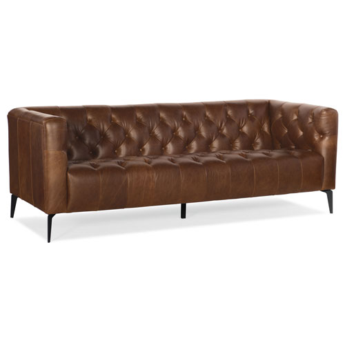 Nicolla Brown Stationary Sofa