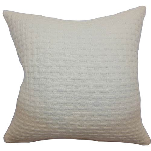 The Pillow Collection Nevis Neutral 18 x 18 Solid Throw Pillow