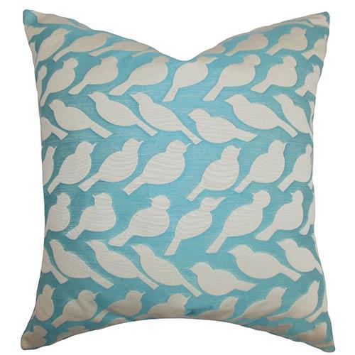 The Pillow Collection Koen Blue 18 x 18 Animal Throw Pillow