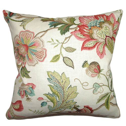 Adele Crewels Pillow Multi-Colored