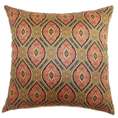 The Pillow Collection Heihe Paisley Pillow Midnight