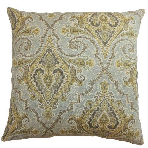 The Pillow Collection Iberia Paisley Pillow Golden Rod