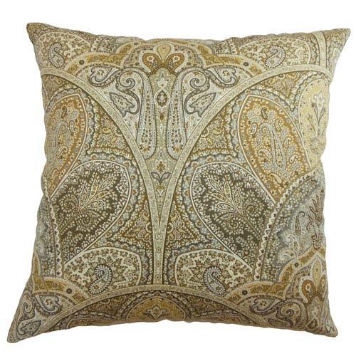 The Pillow Collection La Ceiba Paisley Sandstone