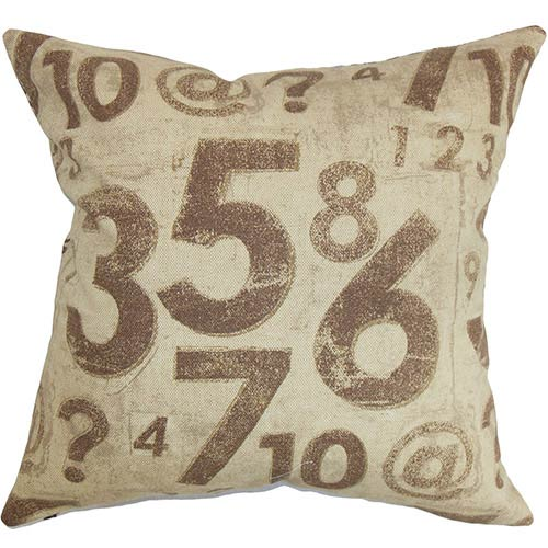 Fred Brown 18 x 18 Typography Throw Pillow