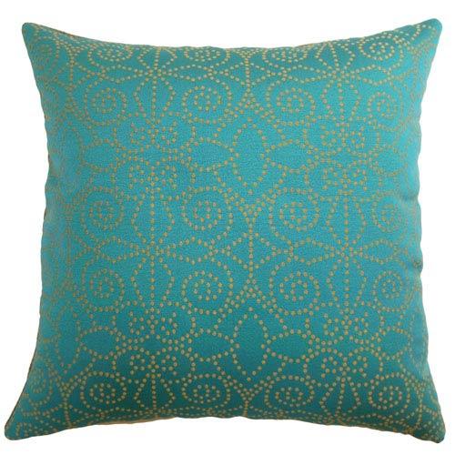 The Pillow Collection Makemo Dots Pillow Aqua/Gold