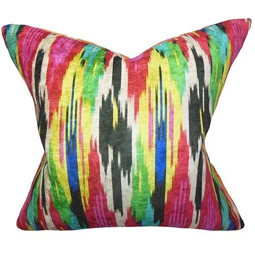 The Pillow Collection Ulyanka Multicolor 18 x 18 Geometric Throw Pillow