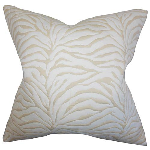 The Pillow Collection Danya White 18 x 18 Geometric Throw Pillow