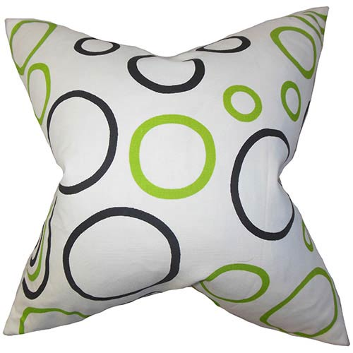 Curran White 18 x 18 Geometric Throw Pillow