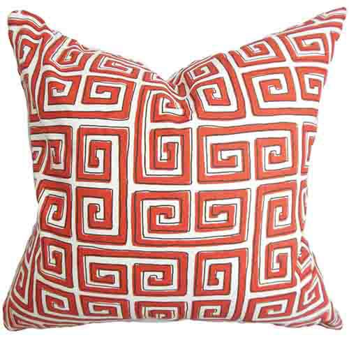 The Pillow Collection Klemens Red 18 x 18 Geometric Throw Pillow