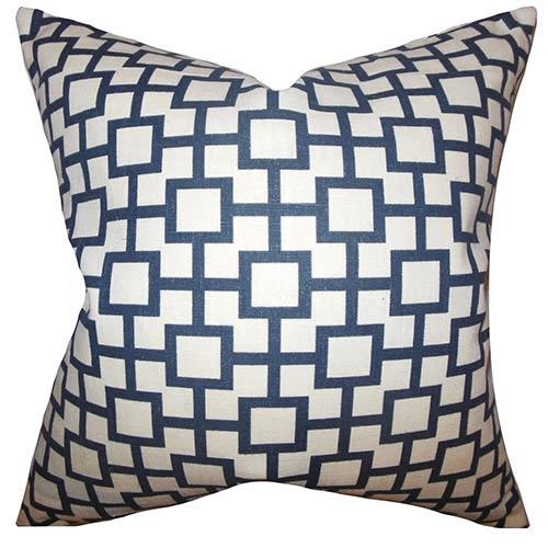 The Pillow Collection Janka Black 18 x 18 Geometric Throw Pillow