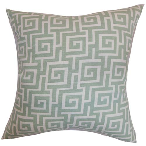 The Pillow Collection Warder Gray 18 x 18 Patterned Throw Pillow