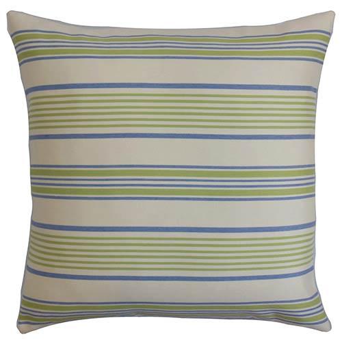 The Pillow Collection Orenda Blue 18 x 18 Geometric Throw Pillow