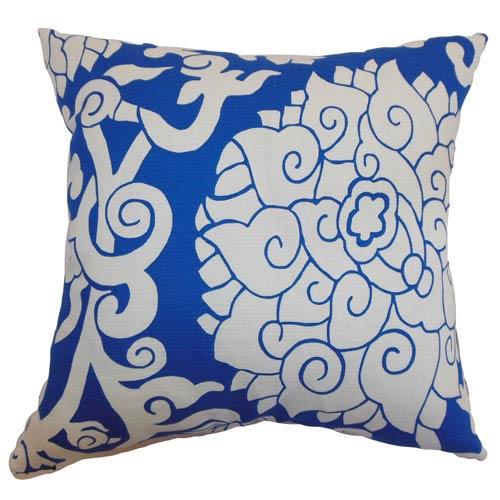 The Pillow Collection Erdenet Floral Pillow Indigo