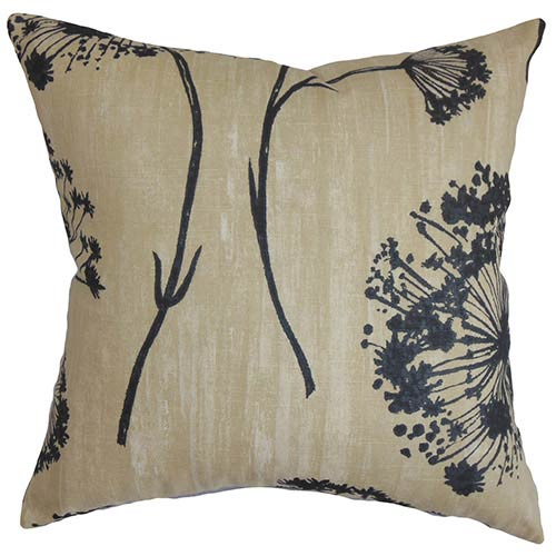 the pillow collection garuahi black and beige 18 x 18 floral throw pillow 2106p18d20922_1 - The Pillow Collection