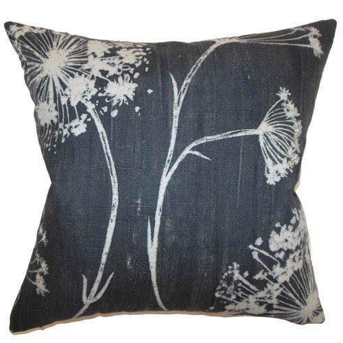 The Pillow Collection Garuahi Floral Pillow Noir