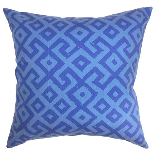 The Pillow Collection Aban Purple 18 x 18 Geometric Throw Pillow