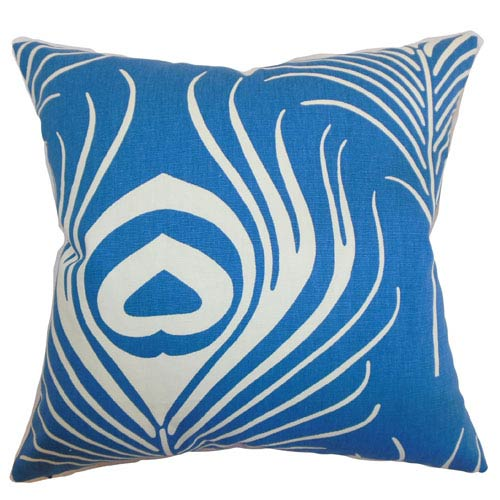 The Pillow Collection Lamassa Peacock Pillow Peacock