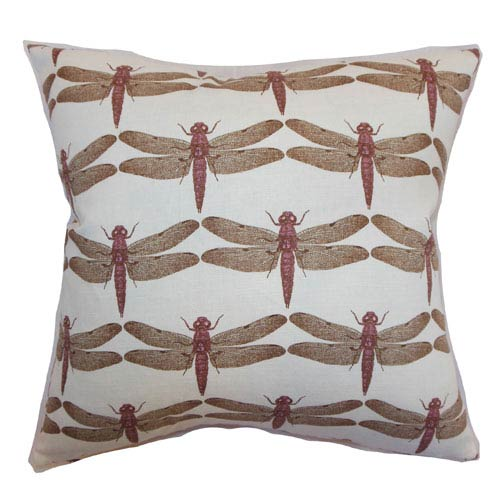 The Pillow Collection Nkan Dragonfly Pillow Lavender