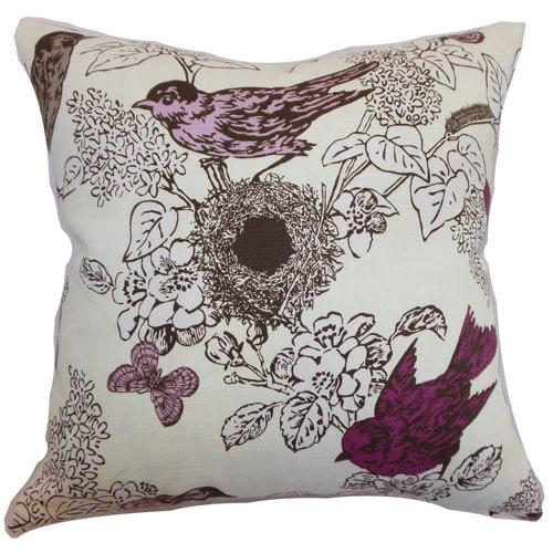 The Pillow Collection Ouvea Birds Pillow Lilac