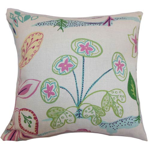 The Pillow Collection Unayzah Floral Pillow Spring Time