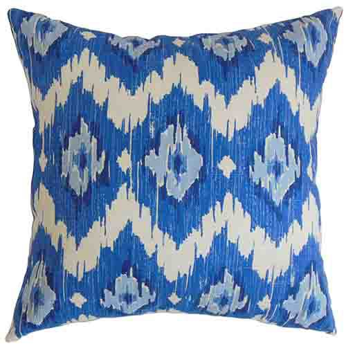 The Pillow Collection Ulrike Blue 18 x 18 Geometric Throw Pillow