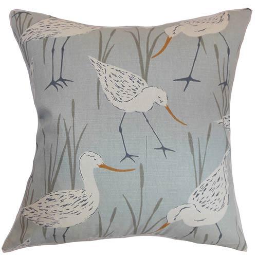 The Pillow Collection Joensuu Blue 18 x 18 Animal Throw Pillow