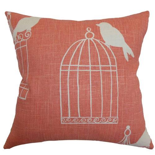 The Pillow Collection Alconbury Birds Pillow Melon