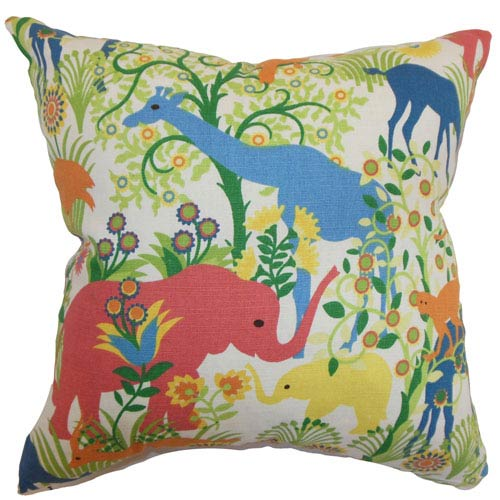 The Pillow Collection Caprivi Flora and Fauna Multi-Colored