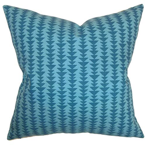 The Pillow Collection Jiri Multicolor 18 x 18 Geometric Throw Pillow