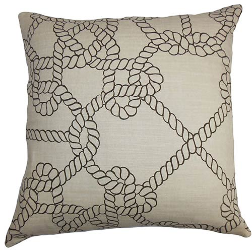 Accalia Black 18 x 18 Coastal Throw Pillow