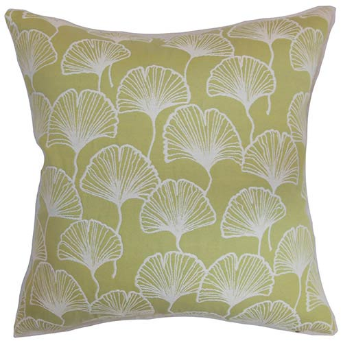 The Pillow Collection Laverne Green 18 x 18 Floral Throw Pillow